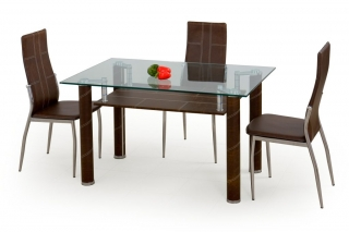 Стеклянный стол Gavin тёмно-коричневый