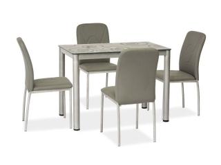Стол стеклянный Signal Damar 100X60 серый