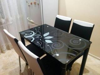 Стол стеклянный Signal Damar 100X60 черный