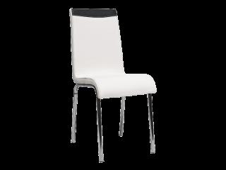 Стул металлический H-161 цвет белый+черный