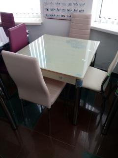 Стол стеклянный GD-082 крем фабрика Signal