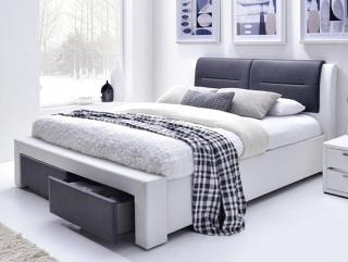Кровать Halmar Cassandra S 160 бело-черное