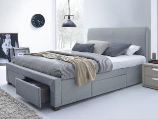 Двуспальная кровать HALMAR MODENA серая