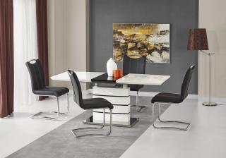 Раскладной стол Halmar NORD белый-черный