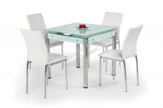 Стеклянный стол Kent (хром)
