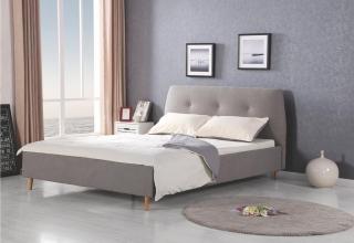 Двуспальная кровать Halmar DORIS серый