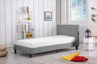 Односпальная кровать HALMAR LOGO серая
