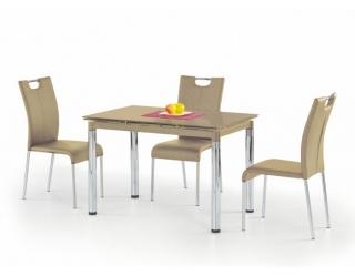 Стеклянный стол L-31 бежевый