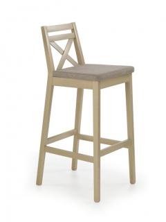 BORYS белый  барный стул HALMAR