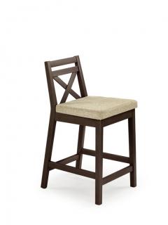 BORYS LOW темный орех барный стул HALMAR