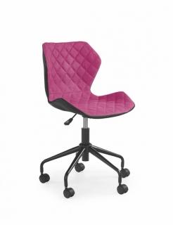 Кресло детское MATRIX HALMAR Черный Розовый