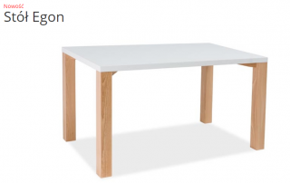 Стол обеденный Signal Egon 120х80 Белый Бук