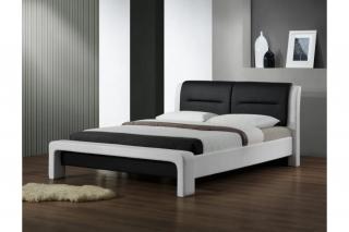 Двуспальная кровать Halmar Cassandra 160-200 Черно-Белая