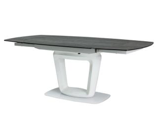 Стол раскладной Signal Claudio Ceramic 140(200)X100 Серый белый