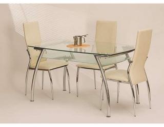 Стеклянный стол Edgar