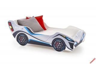 Детская кроватка LAMBO Halmar с разноцветной полкой