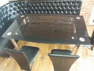 Стеклянный стол Cristal Black