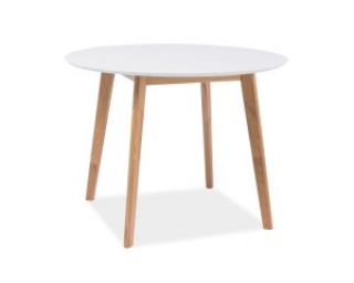 Стол обеденный Signal Mosso II 90x90 белый дуб