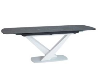 Новинка! Стол стеклянный Signal Cassino II Ceramic 160(220)X90 графитовый белый