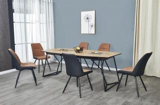 Обеденный стол раскладной Halmar COLOMBO 160-210-100-76 cm дуб золотой-черный