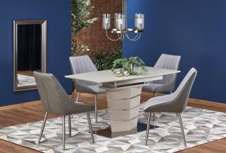Обеденный стол раскладной Halmar SORENTO 140-180-80-76 см бежевый матовый