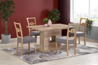 Обеденный стол раскладной Halmar FRAN 135-185-80-76 см дуб Сонома