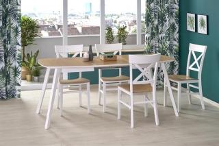 Обеденный стол раскладной KAJETAN 2 Halmar 135-185-82-76 Дуб медовый белый