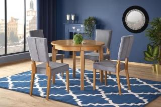 Обеденный стол раскладной Halmar SORBUS 100-200-100-77 см Дуб медовый