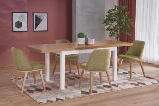 Обеденный стол Tiago 2 Halmar 140-220-80-76 Дуб Ривьера-Белый