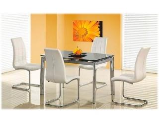 Стеклянный стол Lambert чёрный
