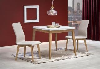 Обеденный стол Halmar TRUMP 80-80-78 см Белый-Дуб крафт