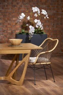 Обеденный стол раскладной Halmar WENANTY 160-240-100-77 см Дуб медовый