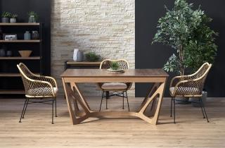 Обеденный стол раскладной Halmar WENANTY 160-240-100-77 см Орех американский