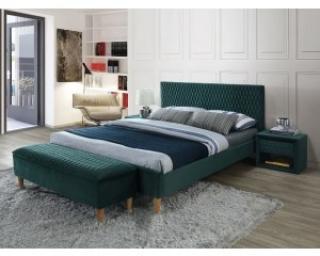 Новинка!Кровать Signal Azurro Velvet 160х200 зеленый дуб