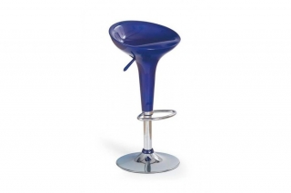 Барный стул H-17 тёмно-синий