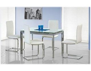 Стеклянный стол Lambert экстра-белый