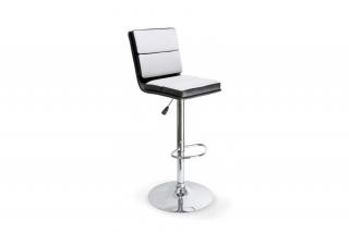 Барный стул H-28 чёрно-белый
