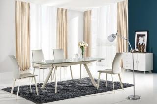Стол обеденный раздвижной стеклянный MAXIMUS