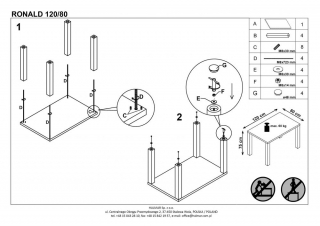 Стол RONALD 120/80
