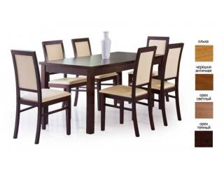 Деревянный стол Ernest 160-200 орех тёмный