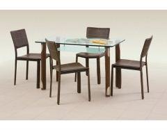 Стеклянный стол Gotard коричневый НЕТ В НАЛИЧИИ