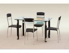 Стеклянный стол Gotard чёрный