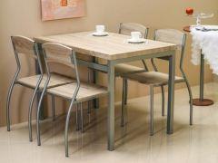 Комплект Signal Astro стол+4 стула дуб Сонома