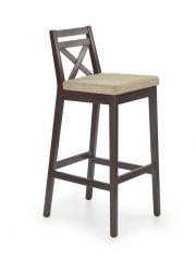 BORYS темный орех барный стул HALMAR