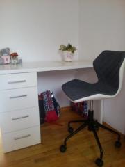 MATRIX детское кресло HALMAR  бело-серый цвет