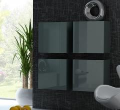 VIGO пенал навесной квадратный серый-серый глянец CAMA
