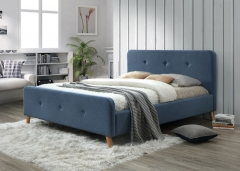 Кровать MALMO 140X200 джинсовая ткань  фабрика Signal
