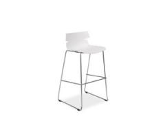Барное кресло FERRO H-2  белый -черный