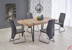 Обеденный стол YOHANN Halmar 170-90-76 cm Дуб Сан Ремо-Черный
