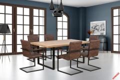 Обеденный стол TORRES Halmar 160-90-76 cm Дуб Золотой